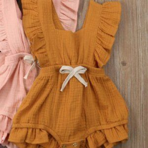 Other - Pink Girl Romper with Flare Sleeve